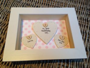 Shabby Personalised Chic Box Frame Gift Girl Christening Present God Daughter